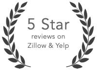 100% 5 Star Zillow reviews 2015-2018